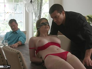 Professional fucker bangs young wifey Bunny Colby in front of her elder husband