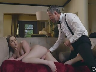 Geyser Fox's lovely breasts on working display during rousing lovemaking