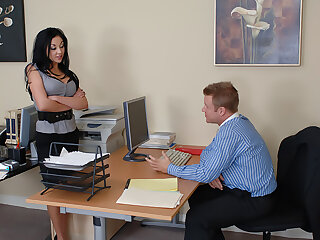 Audrey Bitoni gets fucked give the office