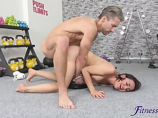 Doggy sex and real orgasms for this sporty young chick
