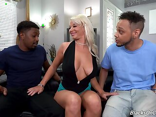 Two black bucks introduce sexy London Tributary to BBC twin penetration