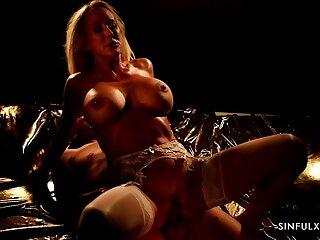 Erotic lovemaking during the night with busty MILF Brandi Love