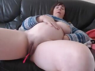 Bbw Huge Tits Milf Close Up Pussy Dildoing With an increment of Masturbating