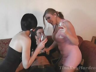 Pussy affectionate wife Tina Kay gets shared by her hubby and her friend