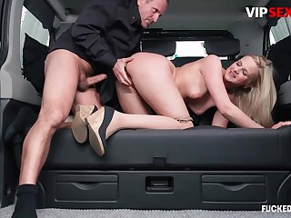 Wine steward chafes milf client's pussy w hard cock