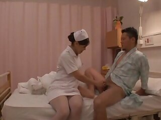 Kinky fucking on the medical centre bed with a hot ass Japanese nurse