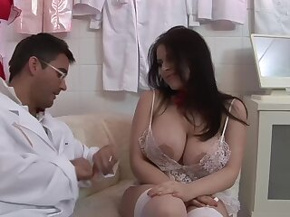 Passionate fucking with chubby heedfulness Daphne Rosen on the table
